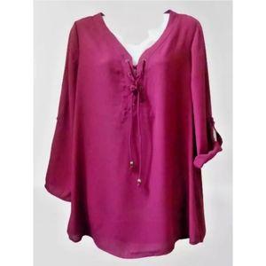 Women Top Size S Long Sleeve Blouse Kim Rogers